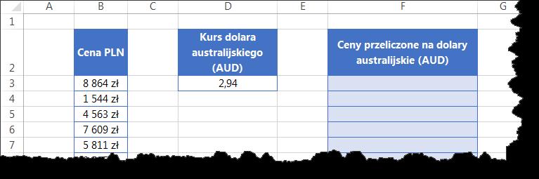adresowanie bezwzgledne dolary excel